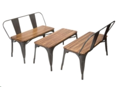 Rental store for Bench, Elio Wood Seat Set of 3 in Columbia MO