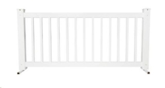 Rental store for Fence, White Vinyl Picket 6 ft in Columbia MO