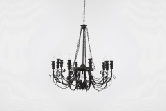 Rental store for Chandelier, Black 10 Lt in Columbia MO