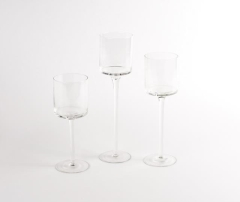 Rental store for Votive, Glass Stem Set 3 in Columbia MO