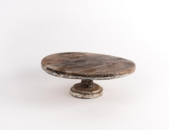 Rental store for Cake Stand, Rustic Wood 12in Short in Columbia MO