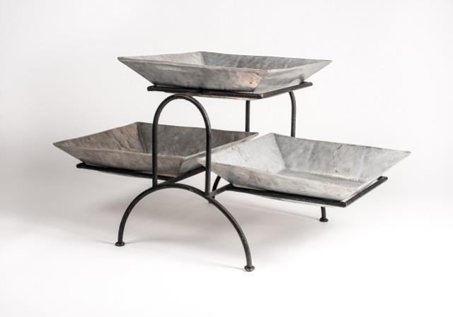 Where to find Tray, 3 Square Bowl on Stand in Columbia