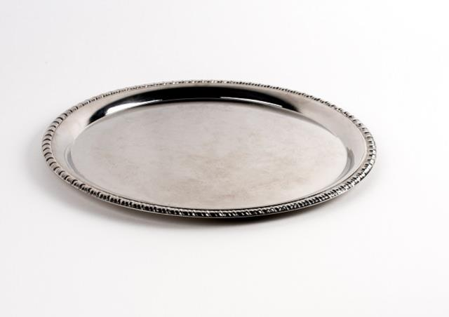 Where to find Tray, Round 14in Embossed in Columbia