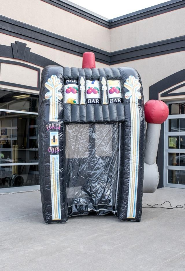 Where to find Inflatable, Slot Machine Money Machine in Columbia