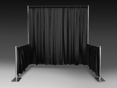Rental store for Black Pipe  Drape 3 H- 10 Long in Columbia MO