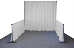 Rental store for White Pipe  Drape 3  High - 10  Long in Columbia MO