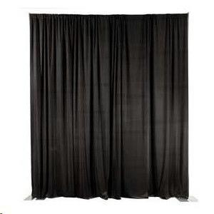 Where to find Black Pipe Drape 10-16 High- 10 Long in Columbia