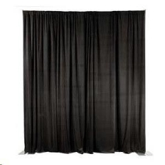 Rental store for Black Pipe Drape 10-16 High- 10 Long in Columbia MO