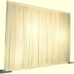 Rental store for Ivory Pipe Drape 10-16 High - 10 Long in Columbia MO