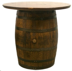 Rental store for Table, Barrel Cocktail Table in Columbia MO