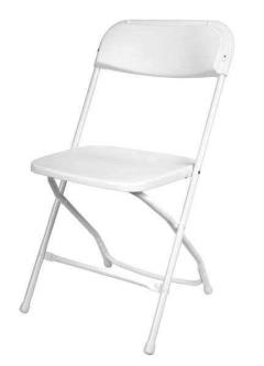 Rental store for Chair, Folding White in Columbia MO