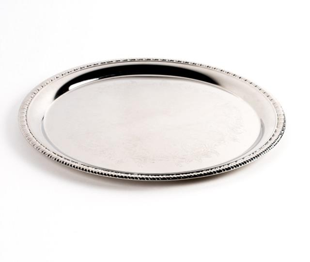Where to find Tray, Round 12in Embossed in Columbia
