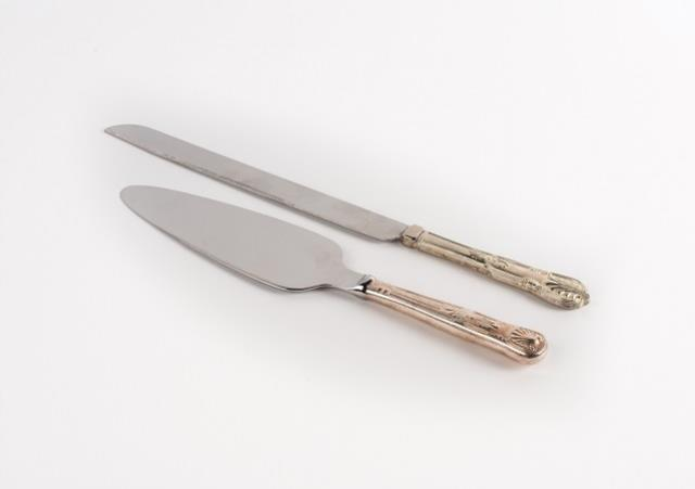 Where to find Cake Server Knife Set, Silver in Columbia