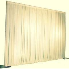 Rental store for Ivory Pipe Drape 16 H- 10 Long in Columbia MO