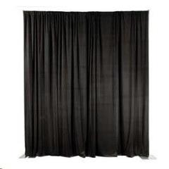 Rental store for Black Pipe Drape 16 H- 10 Long in Columbia MO