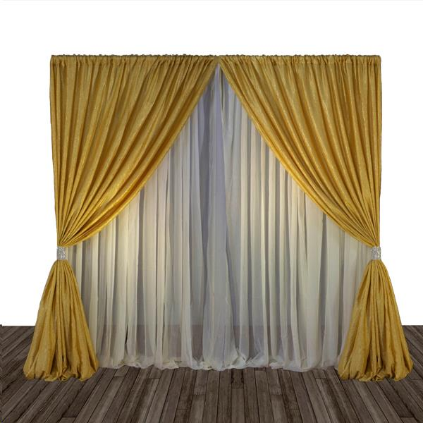 Where to find Gold Pipe  Drape 8 High- 10 Long in Columbia