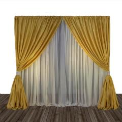 Rental store for Gold Pipe  Drape 8 H- 10 Long in Columbia MO