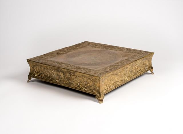 gold wedding cake stand square cake stand square gold 22in rentals columbia mo where to 14830