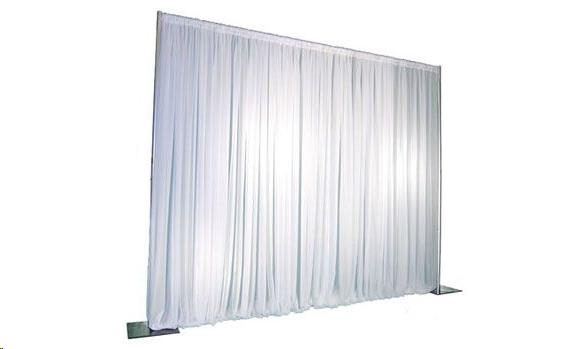 Where to find White Pipe Drape 10-16 High- 10 Long in Columbia