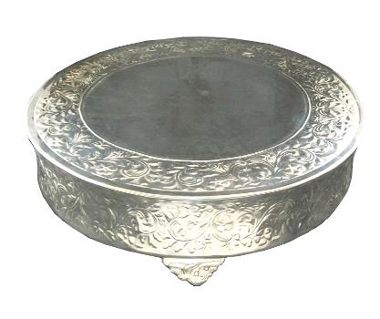 Where to find Cake Stand, Round Silver 22in in Columbia