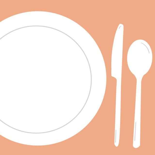 Rent your Party Rental in Columbia, MO: dinner plate, salad plate, coffee saucer, square plate, party plate, knife, fork, spoon, knives