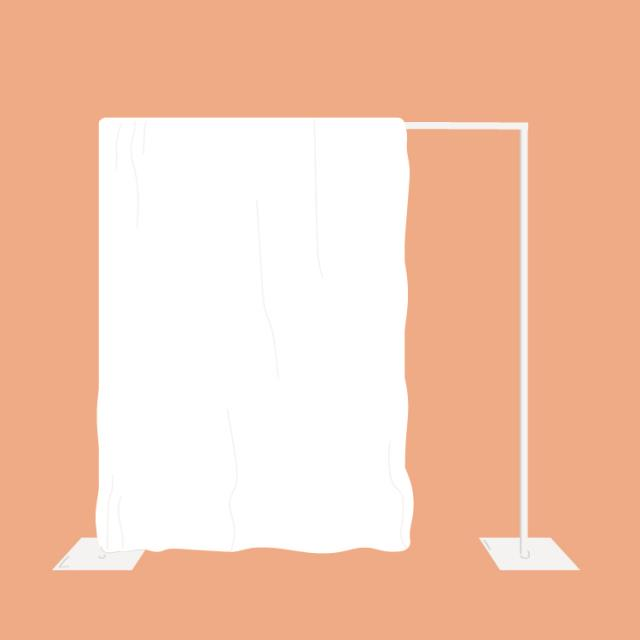 Pipe and drape rentals in Columbia, MO: booth, backdrop